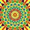 Utilisation de gomettes géométriques