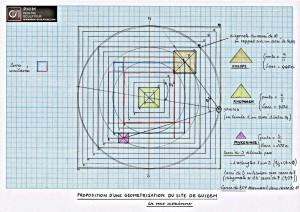 Plan géométrique du site de Guizeh