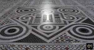 Sol en marbre polychrome de la basilique Saint-Paul-hors-les-Murs à Rome