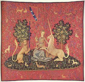 Dame à la licorne, 5ème tapisserie visible au musée de l'hôtel de Cluny à Paris