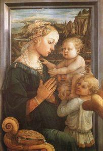 Vierge à l'enfant et deux anges de Filipo Lippi (1465)