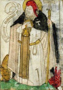 Représentation d'un Antonin en habit religieux au 15ème siècle